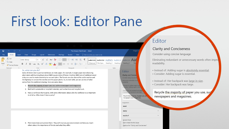 Word Editor Pane
