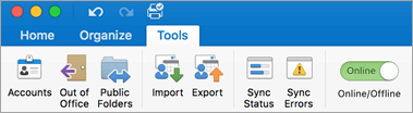 A screenshot of the Tools tab on the ribbon.
