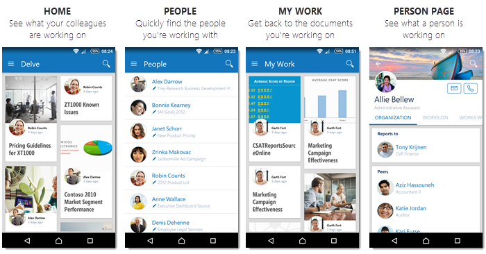 Office Delve For Android Office Support