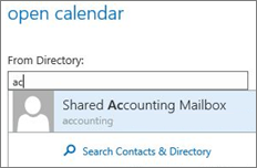 Outlook Web App Open calendar dialog box