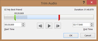 Trim a sound clip