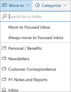 Focused Inbox in Outlook on the web