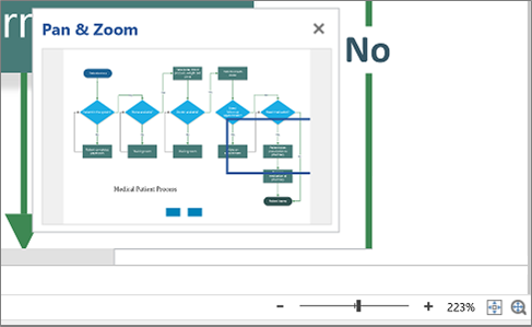 Pan and zoom a diagram in Visio Online - Visio