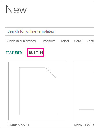 find an avery template in publisher publisher