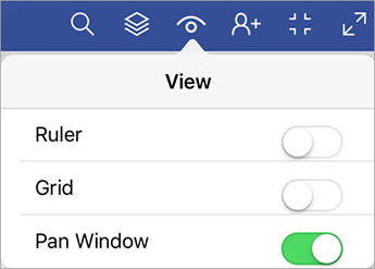 Pan Window command in the View menu.