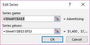 Edit Series dialog box