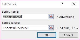 Edit Series dialog box