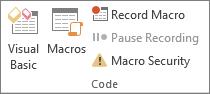 Macros commands