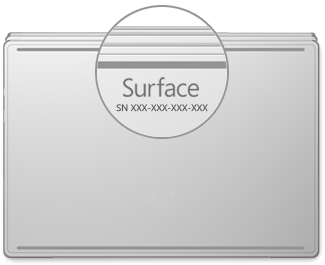 Serial number location on Surface Book