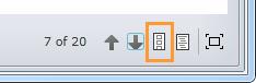 Show thumbnails button