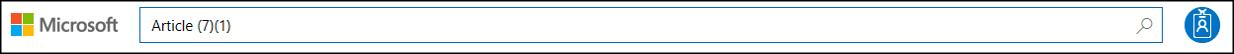 Service Trust Portal - Search Input field