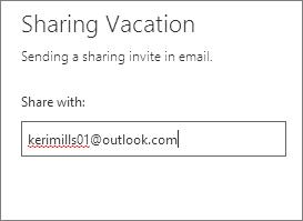 Enter the full email address