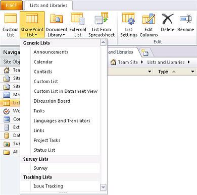 SharePoint List dropdown menu