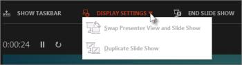 Display Settings in Presenter View