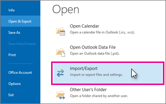 File import export