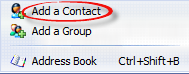Add a contact option in drop down