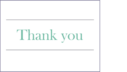Conceptual image of a thank you note