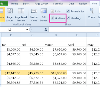 Excel 2010: Hide/Unhide Columns, Rows, Sheets