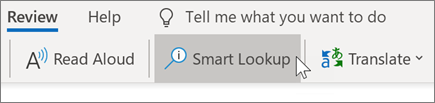 Smart lookup in Outlook