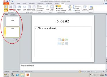 Show the slide number and total number of slides on every slide