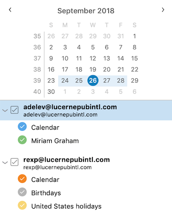 Improved Calendar Sidebar