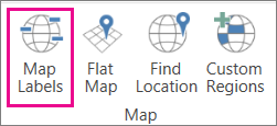 3D Maps Map Labels option