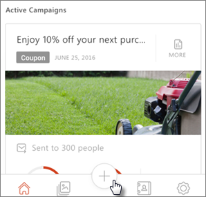 Tap the plus sign to create a new campaign