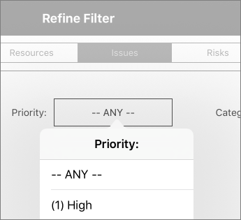 Set filters for a dashboard
