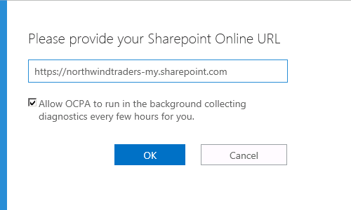 Enter your SharePoint Online URL