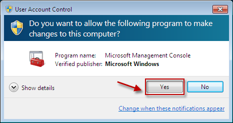 If you are prompted for confirmation, click Yes.