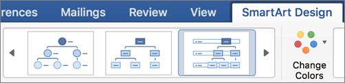 Click a SmartArt design type