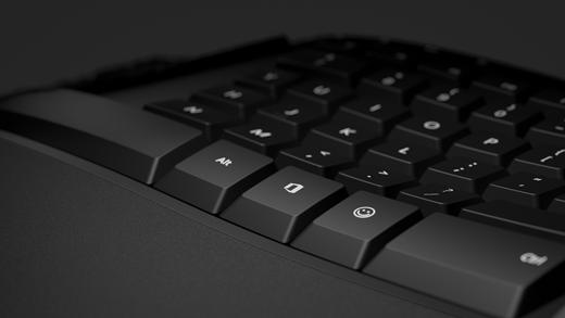 Emoji key and Office key closeup