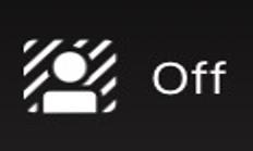 Background blur button