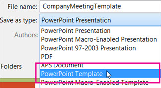 Save as a PowerPoint Template