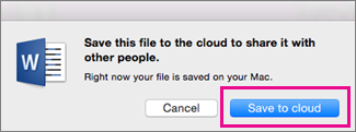 Save to the cloud before inviting people