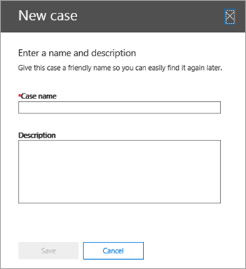 Create a new case