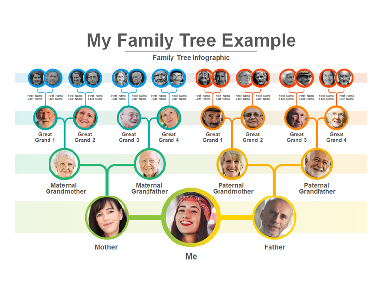 photo of a presentation about family trees