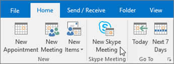 Skype for Business Schedule Meeting