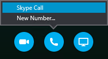 Select Call to connect with a Skype Call or have the meeting call you