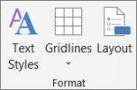 Text Styles button