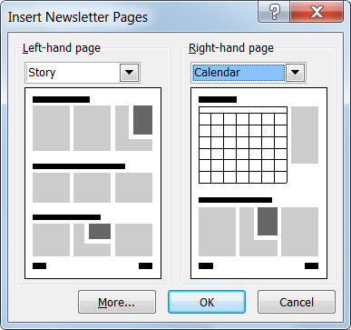 Add Pages To A Newsletter In Publisher Publisher - One page newsletter template publisher