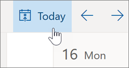 Getting back to Today in Outlook on the web's calendar