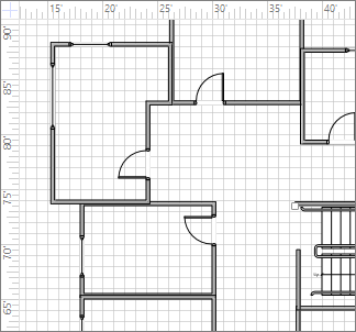 Fixed gridline spacing