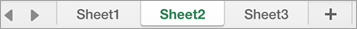 Sheet tabs in Excel