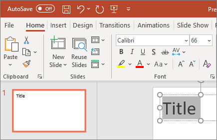 PowerPoint format text