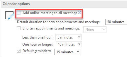 Every meeting online option