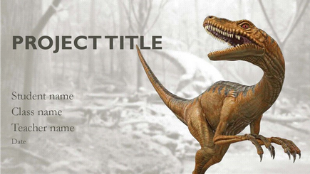 Conceptual image of a 3D dinosaur report