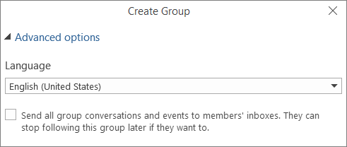 Choose to send group email to users inbox