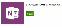 Create a new staff notebook.