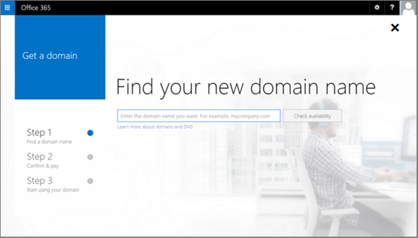 Step one to buy a domain: Provide a domain name